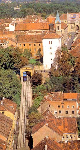 Gorni Grad and funicular in Zagreb